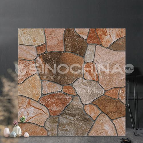 American country antique tile balcony tile cobblestone floor tile courtyard garden floor tile-SKL43013 400mm*400mm