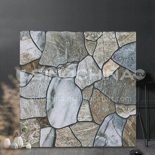 American country antique tile balcony tile cobblestone stone floor tile courtyard garden floor tile-SKL43014 400mm*400mm