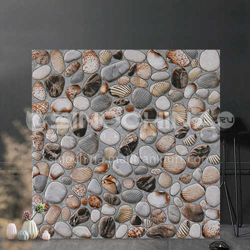American country antique tile balcony tile cobblestone floor tile courtyard garden floor tile-SKL43012 400mm*400mm