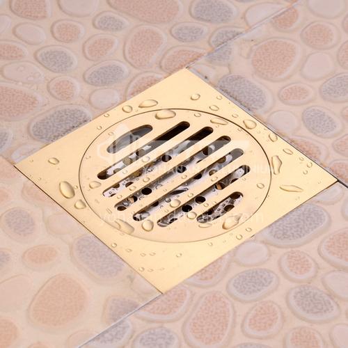 304 SUS stainless steel golden floor drain 10*10