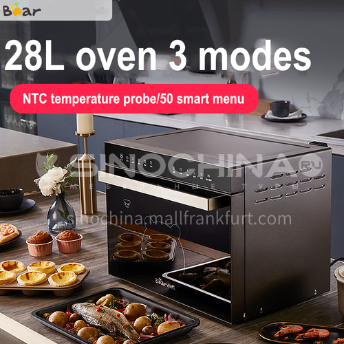 Bear electric oven household intelligent baking cake bread pizza baking automatic 28 liters large capacity multifunctional DQ000529