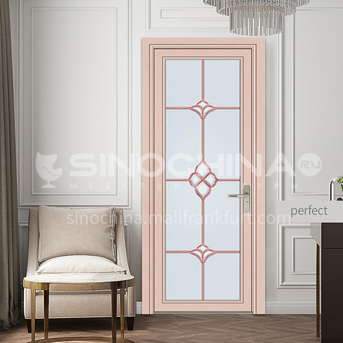 1.2mm modern aluminum alloy indoor glass swing door with lattice glass style