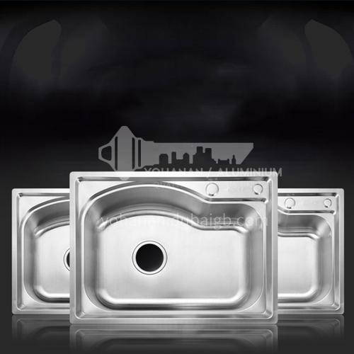 304 stainless steel single basin kitchen sink