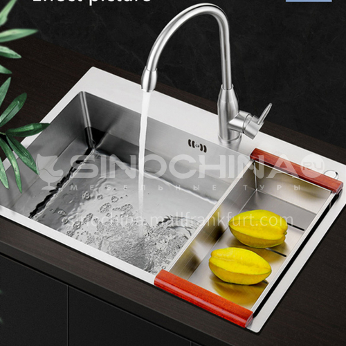 304 stainless steel hand made basin single basin kitchen sink