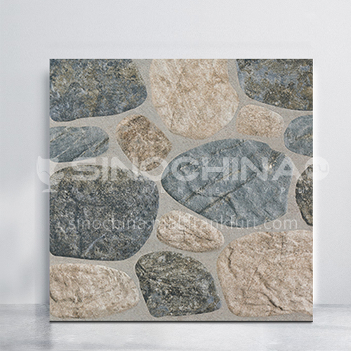 Balcony courtyard floor tiles imitation cobblestone tiles-WLK4001 400*400mm