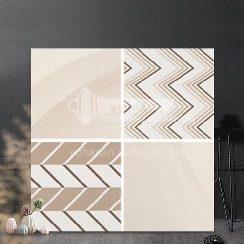 Country style kitchen bathroom non-slip floor tiles check pattern-WLK6305H 300*300mm