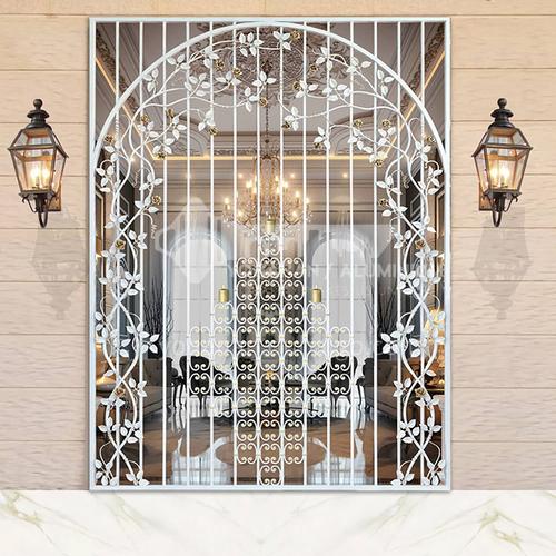 T Hot-dip galvanized European style wrought iron gate courtyard gate wrought iron gate villa gate home outdoor double door garden gate 2