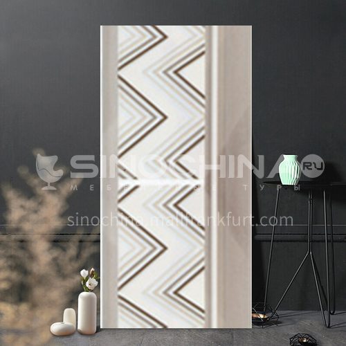 Country style kitchen bathroom non-slip floor tile lattice waist line-WLK6305Y 100*300mm
