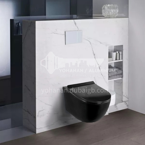 black color wall mounted toilet