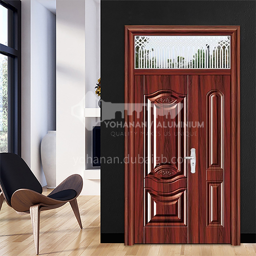 Outdoor zinc alloy security gate room door interior engineering door