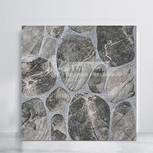 Balcony courtyard floor tiles imitation cobblestone tiles-WLK45042 400*400mm
