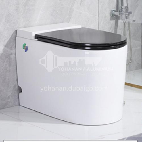 water tankless touch to control toilet kick flush toilet