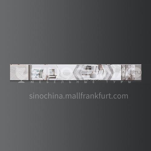 Modern minimalist kitchen bathroom wall tiles waist line-DLB61711-Y 70mm*600mm