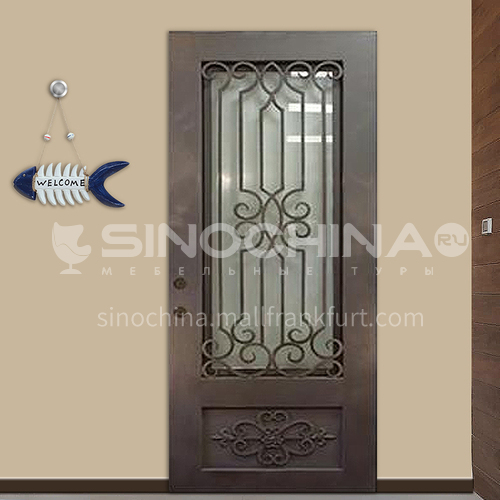 T Hot-dip galvanized European style wrought iron gate courtyard gate wrought iron gate garden gate 7