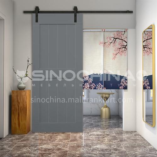 R grey color new design European style barn kitchen door durable using dressing room hanging sliding door