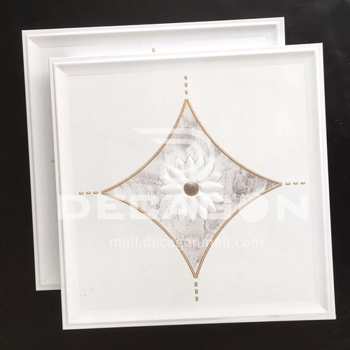 300*300mm aluminum gusset ceiling waterproof, fireproof and antifouling kitchen and bathroom special ceiling JLT7204