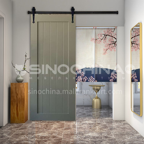R kitchen barn door Europe style modern design solid wood sliding door toilet door 09