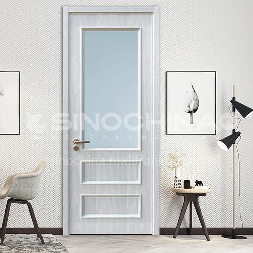 B home villa residence TATA silent wooden door room bathroom interior glass wooden door 16