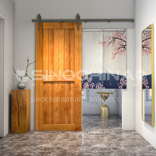 G modern new barn door sliding door kitchen sliding wooden door hanging sliding door toilet door 5
