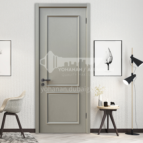B hot sale high-end TATA silent door high quality modern style light gray interior door paint wooden door 19