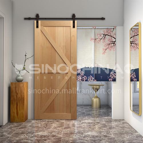 G modern new barn door sliding door kitchen sliding wooden door hanging sliding door toilet door 4