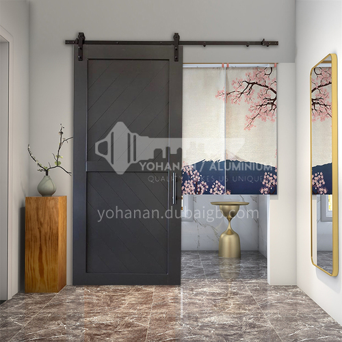 G modern new barn door sliding door kitchen sliding wooden door hanging sliding door toilet door 3