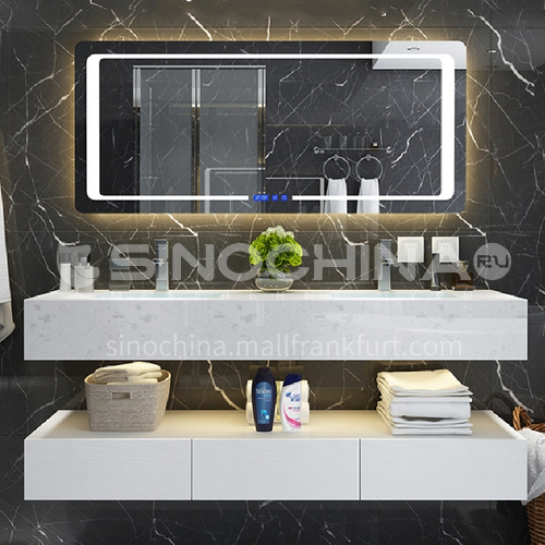 Bathroom cabinet combination bathroom gargle table modern contracted marble toilet wash face wash basin cabinet 1.4m YQ-1-7