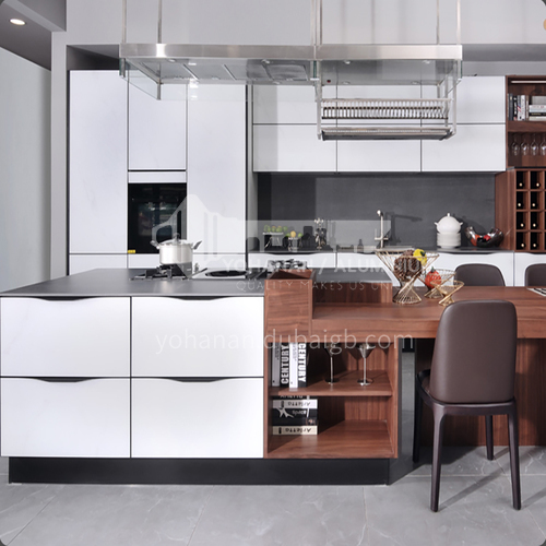 Modern style kitchen  Melamine with particle board-GK-258