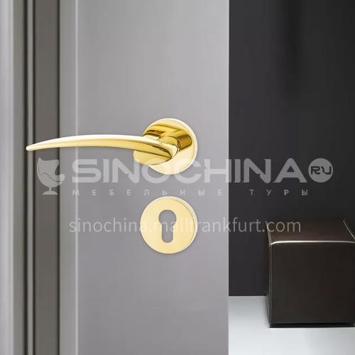 Luxury modern style & silent room door lock handle