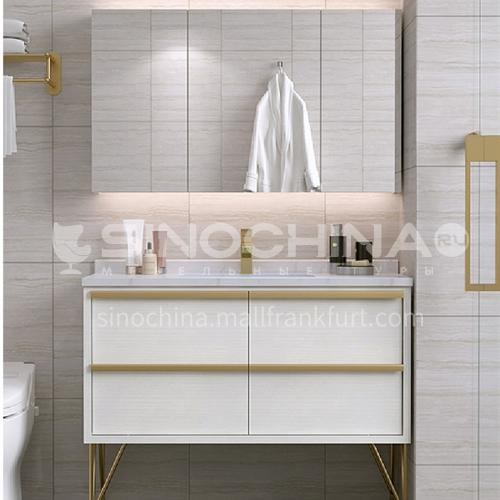 Bathroom Nordic light luxury bathroom cabinet combination bathroom floor type wash face wash basin YQ-007