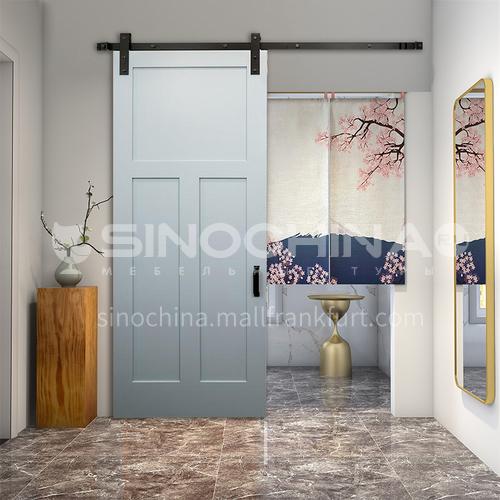 G modern new barn door sliding door kitchen sliding wooden door hanging sliding door toilet door 7