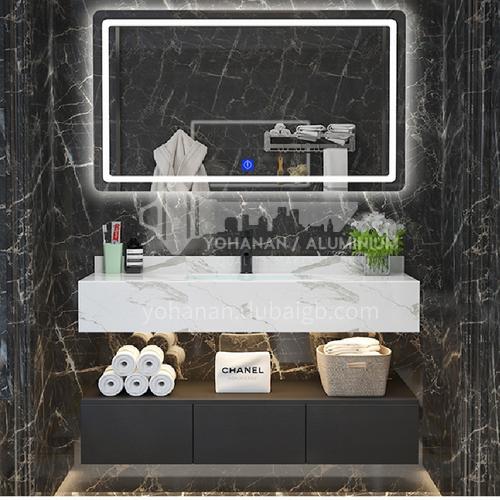 Hotel marble bathroom cabinet combination wash basin Nordic bathroom cabinet wash basin face basin toilet condole ark 1m YQ008
