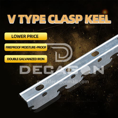 V type Clasp Keel Ceiling Construction