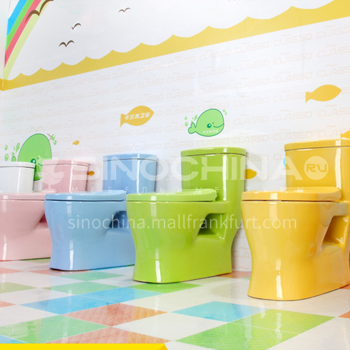 Color children's ceramic toilet pink yellow blue orange green toilet