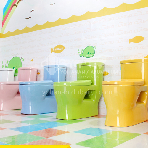 Color children's ceramic toilet pink yellow blue orange green toilet
