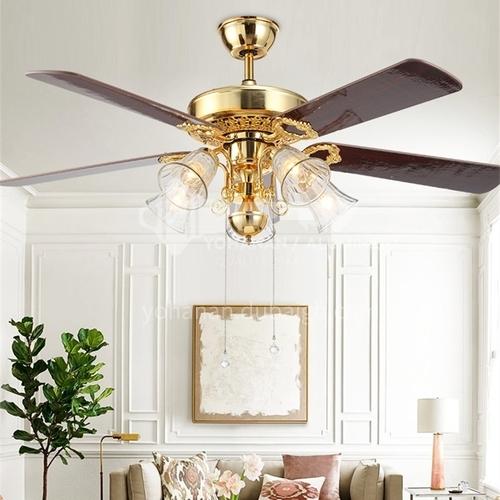 American dining room living room modern minimalist bedroom fan lamp-DSYF-SLY1050