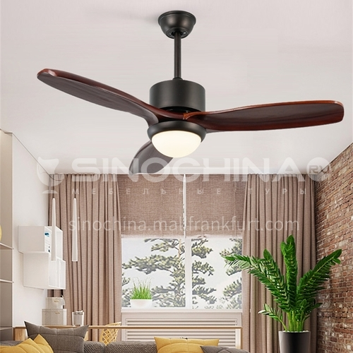American style living room household fan lamp wooden dining room retro lamp-DSYF-SLY2166