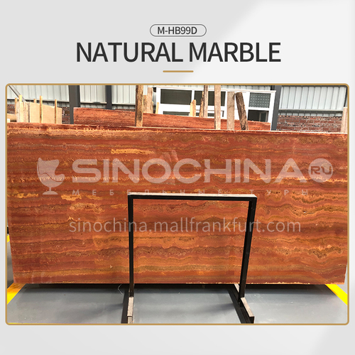 Modern simple red natural marble M-HB99D