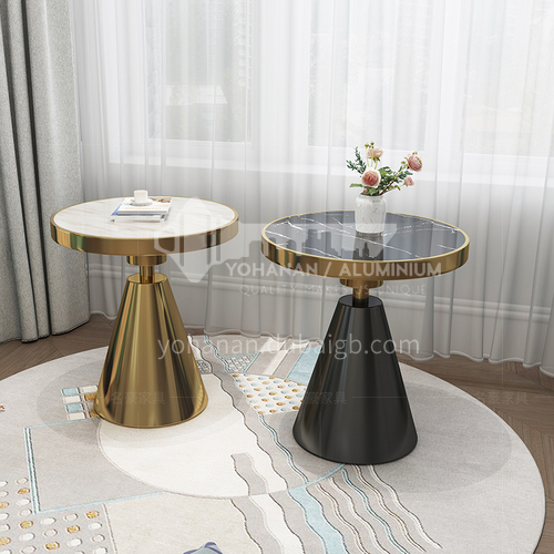 BE-1691-Living room light luxury stainless steel marble side table