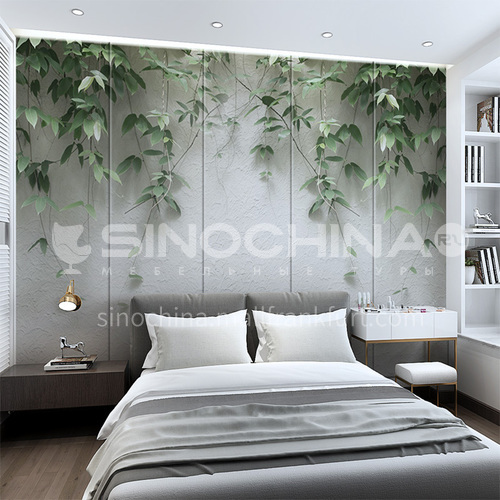 Customized 3D green leaves natural Background Wall BGW086