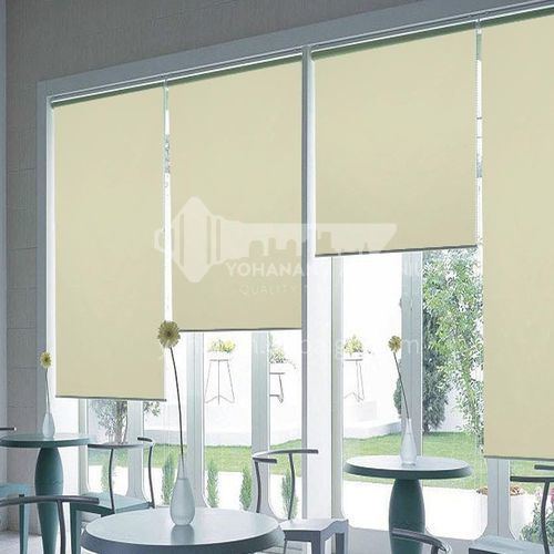 Modern minimalist style solid color waterproof blackout roller shutter for home office SF-KL