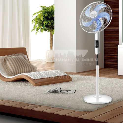 AIRMATE household mute five-blade electric fan LED large screen display floor fan vertical intelligent remote control can be reserved DQ000733