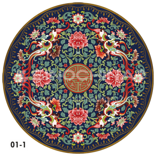 New Chinese Round Carpet HLD-1902