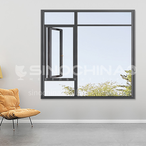 1.4mm 50 series aluminum alloy casement windows, high quality single casement windows, household apartment engineering windows