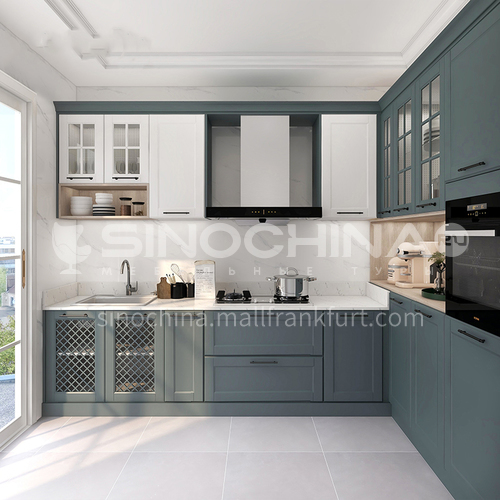 Nordic style Classical style kitchen PVC with HDF-GK-272