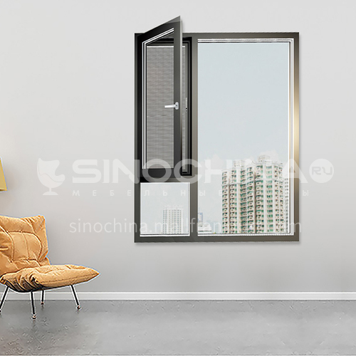 1.6mm 100 series aluminum alloy casement window screens integrated casement window high quality single casement window soundproof living room window