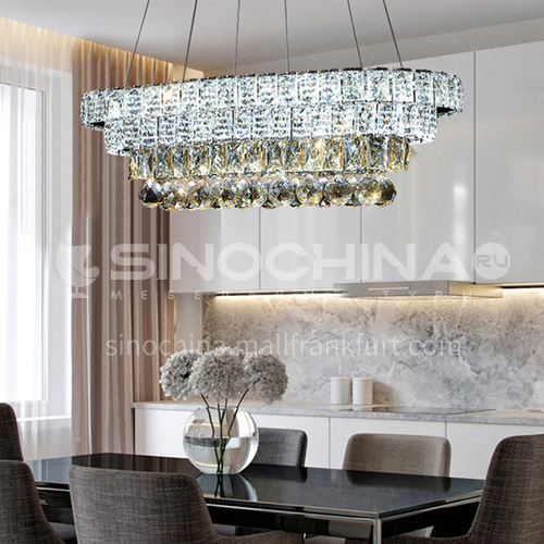 Crystal dining room chandelier simple modern creative personality chandelier atmosphere dining room led lamps-LG-D545