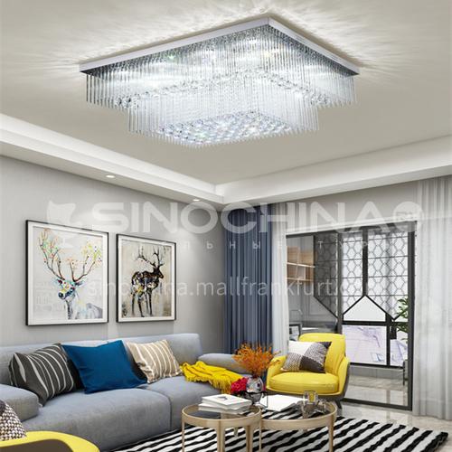 Living room crystal lamp rectangular modern led ceiling lamp bedroom dining room lamp GD-1217