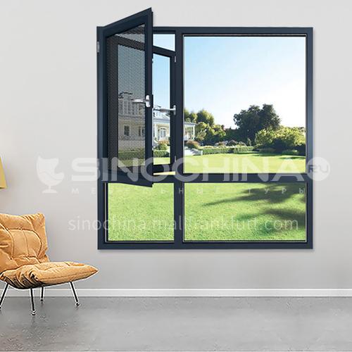 1.6mm 100 series aluminum alloy casement windows, heat insulation, sound insulation, waterproof screens, integrated casement windows, high quality single casement windows, bedroom and living room windows