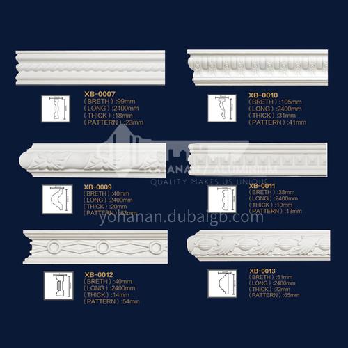 2400mm European style decorative PU carved flat line 7